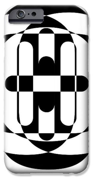Op iPhone Cases - Op Art 5 iPhone Case by Edward Fielding
