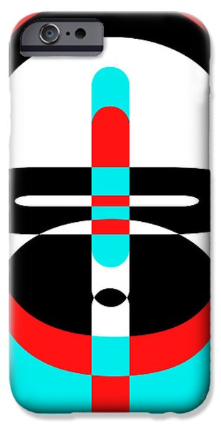 Abstract Digital Photographs iPhone Cases - Pop Art People 3 iPhone Case by Edward Fielding