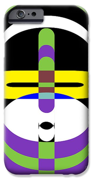 Op iPhone Cases - Pop Art People 2 iPhone Case by Edward Fielding