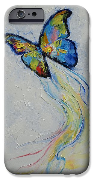 Transformation iPhone Cases - Opal Butterfly iPhone Case by Michael Creese
