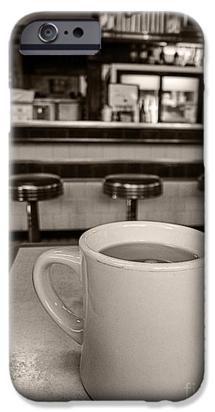 Diner iPhone Cases - Open All Night iPhone Case by Edward Fielding