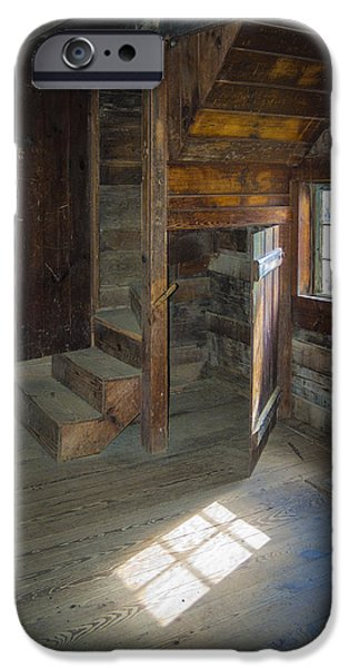 Cabin Window iPhone Cases - Open Door iPhone Case by Jon Stephenson