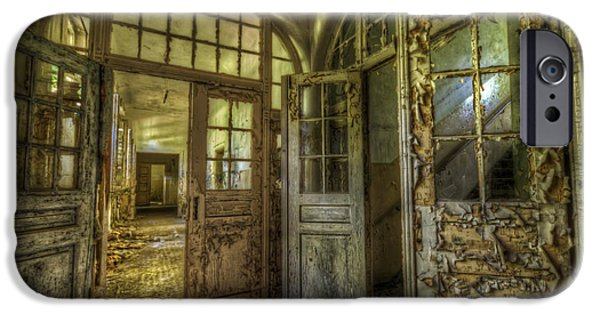 Haunted House Digital iPhone Cases - Open doors iPhone Case by Nathan Wright