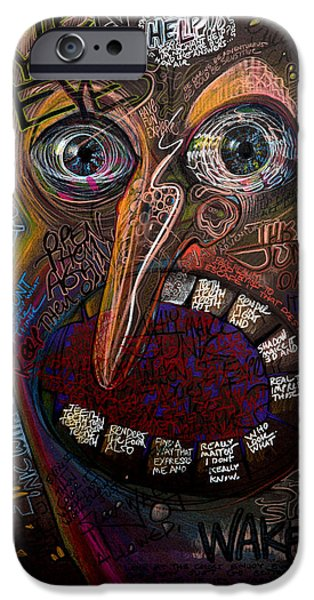 The Scream iPhone Cases - Open Your Eyes iPhone Case by Frank Robert Dixon