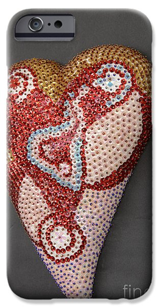 Magical Reliefs iPhone Cases - Opening heart iPhone Case by Heidi Sieber