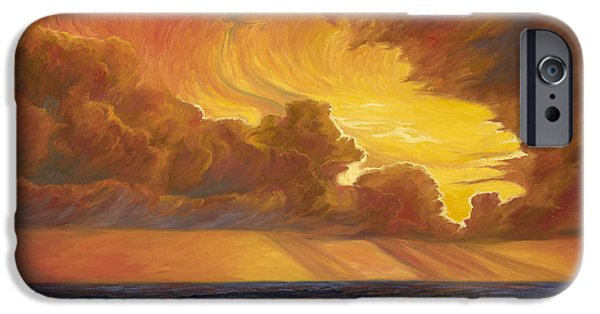 Beach iPhone Cases - Opening Sky iPhone Case by Lucie Bilodeau
