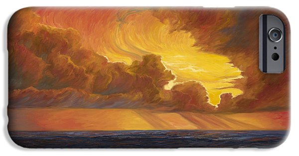 Horizon Paintings iPhone Cases - Opening Sky iPhone Case by Lucie Bilodeau
