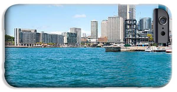 Office Block iPhone Cases - Opera House With City Skyline, Sydney iPhone Case by Panoramic Images
