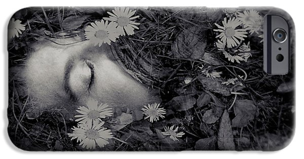 Artistic Portraiture iPhone Cases - Ophelia iPhone Case by Susan Maxwell Schmidt