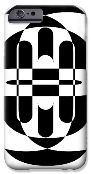 Design iPhone Cases - Opt Art 6 iPhone Case by Edward Fielding