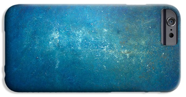 Recently Sold -  - Abstract Expressionist iPhone Cases - Opt.1.15 Mr Blue Sky iPhone Case by Derek Kaplan