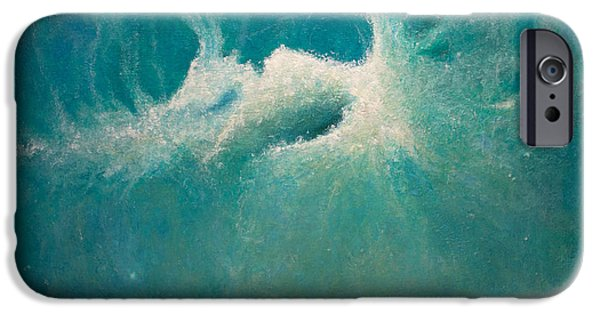 Recently Sold -  - Abstract Expressionist iPhone Cases - Opt.49.14 Caribbean Storm  iPhone Case by Derek Kaplan