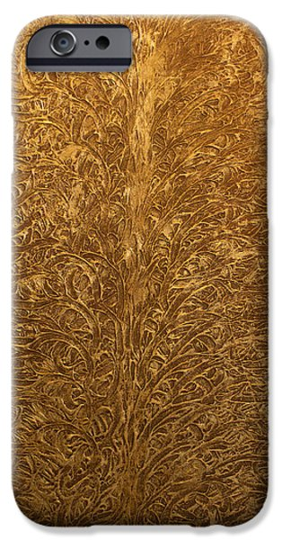 Recently Sold -  - Abstract Expressionist iPhone Cases - Opt.5.15 Tree Of Life iPhone Case by Derek Kaplan