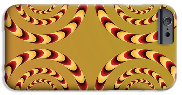Rotate iPhone Cases - Optical Ilusions Summer Spin iPhone Case by Sumit Mehndiratta