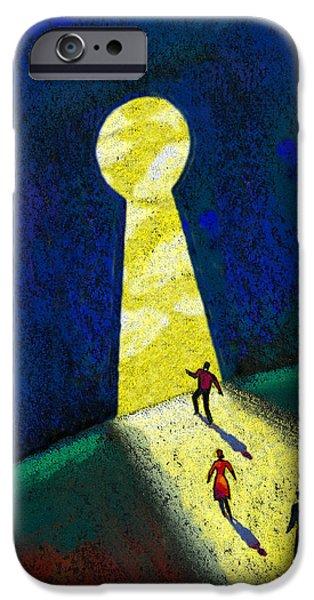 Pleasure Paintings iPhone Cases - Optimism iPhone Case by Leon Zernitsky