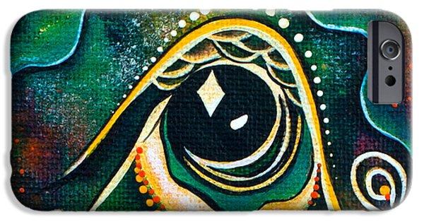 Third Eye Paintings iPhone Cases - Optimist Spirit Eye iPhone Case by Deborha Kerr