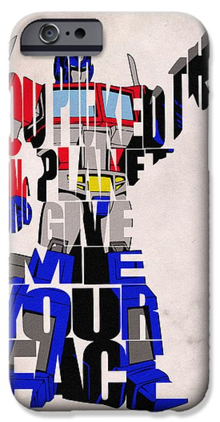 Nerd iPhone Cases - Optimus Prime iPhone Case by Ayse Deniz