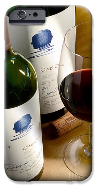 Wine Bottles Photographs iPhone Cases - Opus with Friends iPhone Case by Jon Neidert
