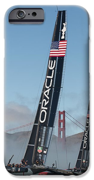 Fog iPhone Cases - Oracle Team USA - 1 iPhone Case by Gilles Martin-Raget