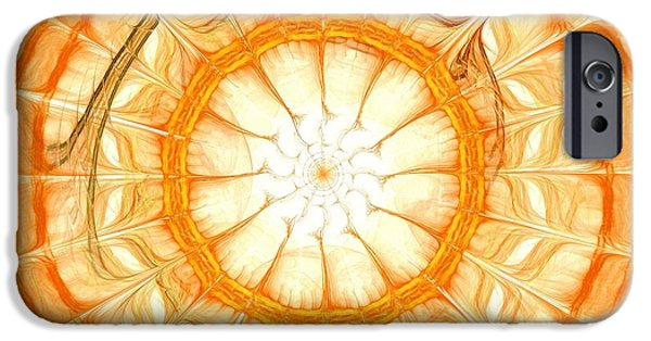 Mandalas iPhone Cases - Orange iPhone Case by Anastasiya Malakhova