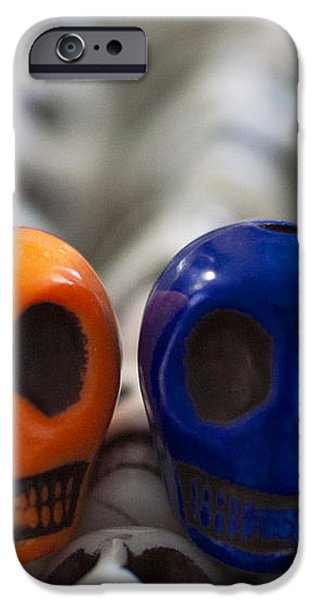 Orange And Navy Blue iPhone Case by Mike Herdering