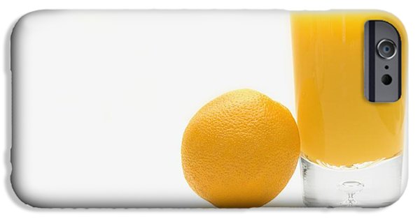 Orange iPhone Cases - Orange And Orange Juice iPhone Case by Darren Greenwood