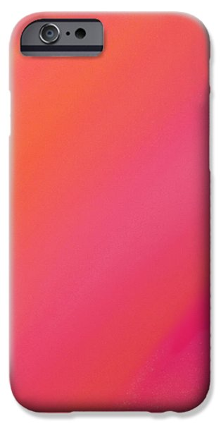 Orange And Raspberry Sorbet Abstract 2 iPhone Case by Andee Design