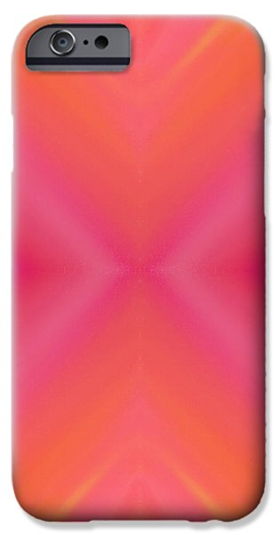 Orange And Raspberry Sorbet Abstract 7 iPhone Case by Andee Design