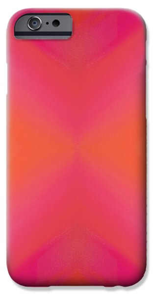 Orange And Raspberry Sorbet Abstract 8 iPhone Case by Andee Design
