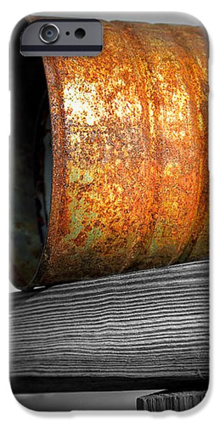 Orange Appeal - Rusty Old Can iPhone Case by Gary Heller