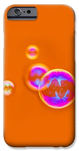Orange Bubbles - Featured 3 iPhone Case by Alexander Senin