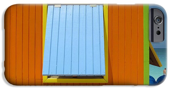 Window Cover iPhone Cases - Orange Cabin iPhone Case by Randall Weidner