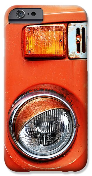 Old Truck iPhone Cases - Orange Camper Van iPhone Case by Mark Rogan