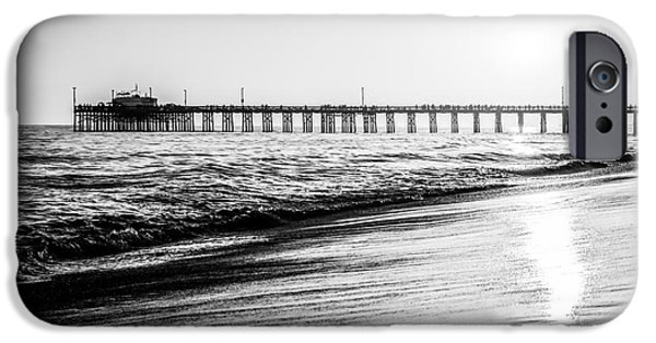 Getaway iPhone Cases - Orange County California Picture of Balboa Pier  iPhone Case by Paul Velgos