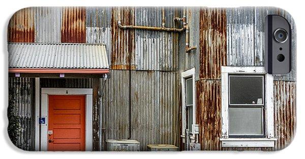 Rural iPhone Cases - Orange Door iPhone Case by Bill Gallagher