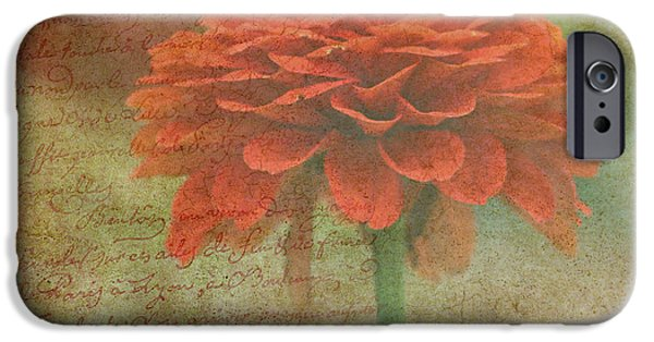 Flora iPhone Cases - Orange Floral Fantasy iPhone Case by Kay Novy