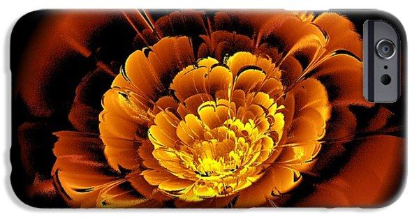 Flora iPhone Cases - Orange Flower  iPhone Case by Anastasiya Malakhova