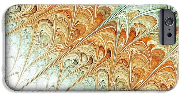Turquoise iPhone Cases - Orange Folium iPhone Case by Anastasiya Malakhova