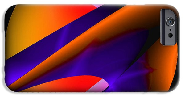 Blue Abstracts iPhone Cases - Orange Glow iPhone Case by Louise Grant