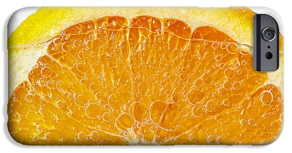 Bubbly iPhone Cases - Orange in water iPhone Case by Elena Elisseeva
