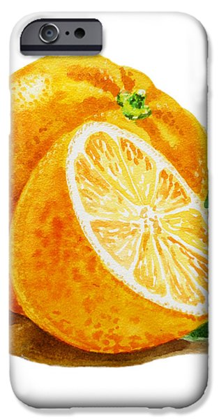 Orange iPhone Case by Irina Sztukowski