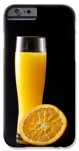 Juice iPhone Cases - Orange juice iPhone Case by Gergana Chakalova