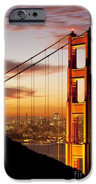 Sunrise iPhone Cases - Orange Light at Dawn iPhone Case by Brian Jannsen
