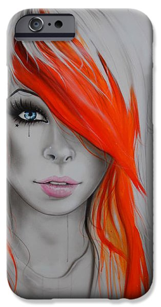 Lips iPhone Cases - Orange Nectar iPhone Case by Christian Chapman Art