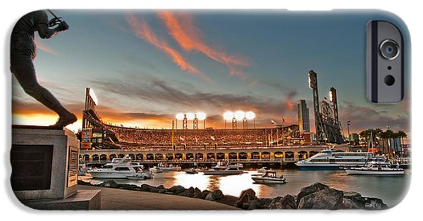 Baseball Stadiums iPhone Cases - Orange October 2012 Celebrates The San Francisco Giants iPhone Case by Jorge Guerzon