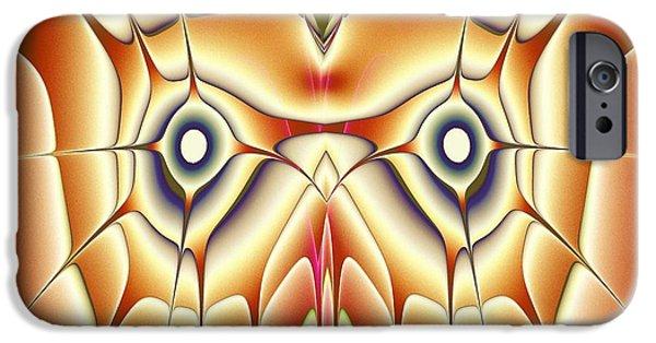 Birds iPhone Cases - Orange Owl iPhone Case by Anastasiya Malakhova