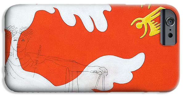 Bono Paintings iPhone Cases - Orange Palm Springs Idyll iPhone Case by Stan Magnan
