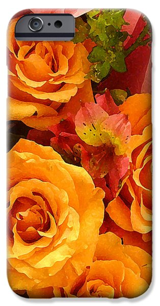 Pink Roses iPhone Cases - Orange Roses iPhone Case by Amy Vangsgard
