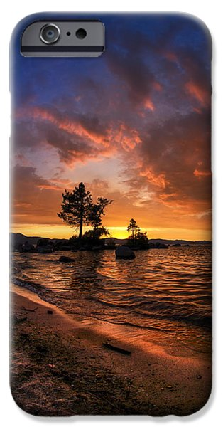Sunset iPhone Cases - Orange Sandy Beaches iPhone Case by Sean Foster