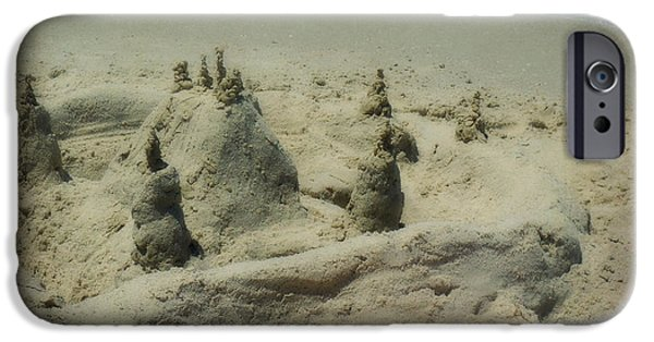 Sand Castles iPhone Cases - Orange Shovel iPhone Case by Valerie Reeves